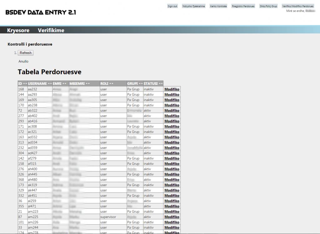 BSDEV Data Entry